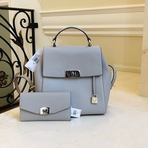NWT Michael Kors Karson Backpack&cassie Wallet